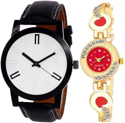 BOBO BIRD BBV14 Combo pack 2 New Designer Diamond Stunned Juliet Multicolor Dial Bracelet Couple Watch For Men & Women Analog Watch  - For Men & Women