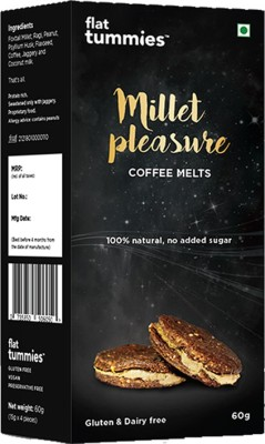 Flat Tummies Millet Pleasure | Coffee Melts cookies(300 g, Pack of 5) at flipkart