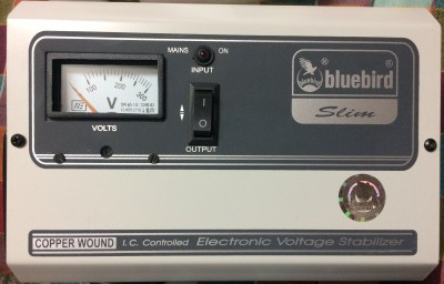 Bluebird 3 kva 150 280v Copper Wounded Analog Voltage Stabilizer for \ Grey