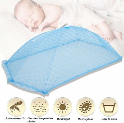 Baybee Nylon Infants Baby Mosquito Net Floral Design Mosquito Net(Blue)