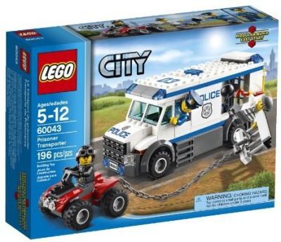 LEGO City Police 60043 Prisoner Transporter Multicolor LEGO Blocks   Building Sets
