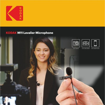 Kodak M11 2.5mm Lavalier Microphone with Adapter for Smartphones Camera Microphone