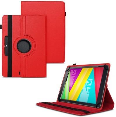 TGK Flip Cover for Swipe Mtv Slash 4X Tablet 7 inch 360 Degree Rotating Case(Red, Cases with Holder)