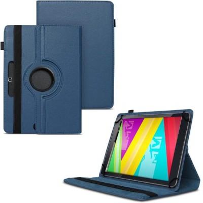 TGK Flip Cover for Swipe Mtv Slash 4X Tablet 7 inch 360 Degree Rotating Case(Blue, Cases with Holder)