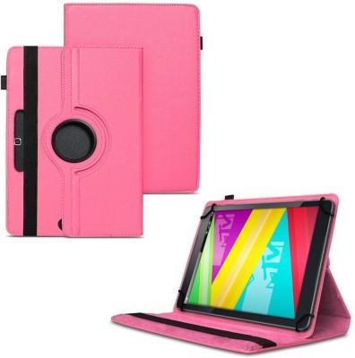 TGK Flip Cover for Swipe Mtv Slash 4X Tablet 7 inch 360 Degree Rotating Case(Pink, Cases with Holder)