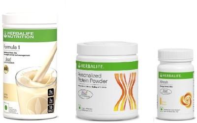 Herbalife Vanilla Shake & Personalized Protein 200 Gm & Afresh Lemon Combo(750G)