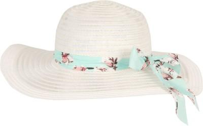 FabSeasons Beach Sun Hat(White, Pack of 1)