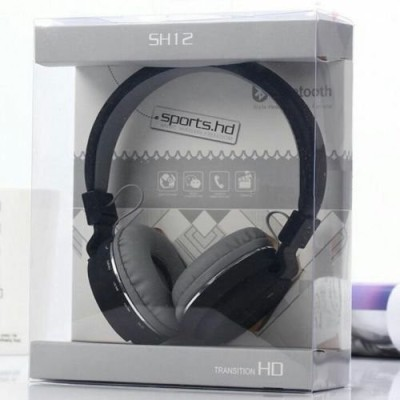 Omniversal SH12 Wireless Headphone for All Smart Devices Bluetooth Headset Bluetooth Headset(Black, On the Ear)