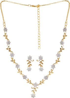 Zaveri Pearls Brass Jewel Set(Gold) at flipkart