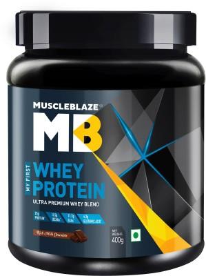 MuscleBlaze 100% Whey Protein (400 g, Rich Milk Chocolate)