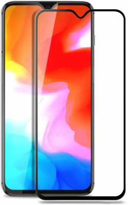 joice Tempered Glass Guard for Premium Full Glue 5D Full Edge-to-Edge Screen Protection Tempered Glass for 1+6T One Plus OnePlus 6T Black(Pack of 1)