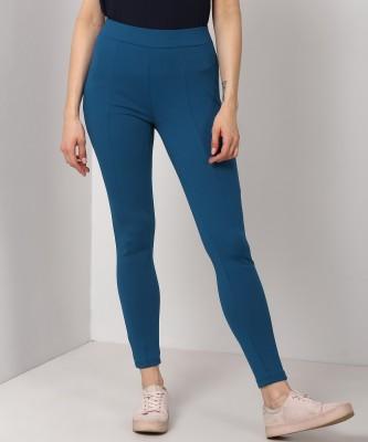 Van Heusen Solid Women Blue Tights