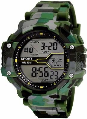 lokmart Army Green digital watch Digital Watch  - For Boys & Girls