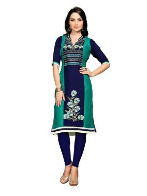 SERENEVA SALES Casual Self Design Women Kurti(Green)
