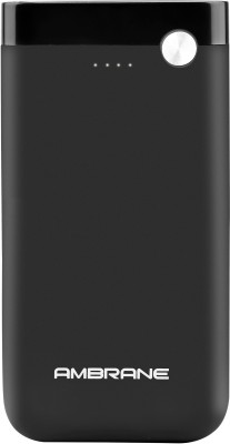 Ambrane 10000 mAH Lithium Polymer Power Bank with Micro/Type C Input for Android & iPhone (PP-11, Black)