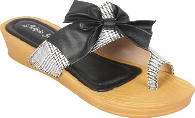 Adjoin Steps Women Black, White Wedges Adjoin Steps Wedges