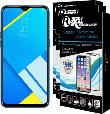 Roxel Tempered Glass Guard for Realme C2 (Diamond Blue, 32 GB) (3 GB RAM)(Pack of 3)