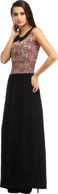Cottinfab Women Maxi Black Dress
