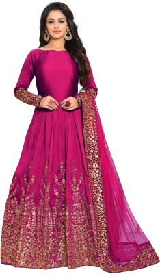 308a945b6b 61% OFF on Latest Wize Collections Anarkali Gown Dress Material on ...