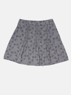 Dressberry Printed Women A-line Grey Skirt at flipkart