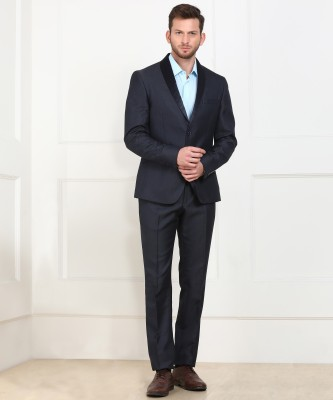 V Dot by Van Heusen 2 Piece Suit Self Design Men Suit at flipkart