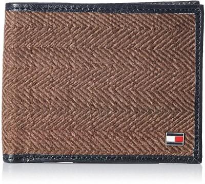Tommy Hilfiger Men Black, Brown Genuine Leather Wallet(4 Card Slots) at flipkart