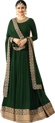 Salwar Soul Poly Georgette Embroidered Salwar Suit Material(Semi Stitched)