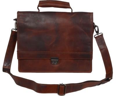 ZINT 14 inch Laptop Messenger Bag Brown ZINT Laptop Bags