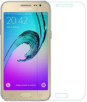 WSX Retail Tempered Glass Guard for Samsung Galaxy J2 2017 Tempered Glass[Transparent], Screen Protector For Samsung Galaxy J2 2017, WSX™ Samsung Galaxy J2 2017 Tempered glass[Transparent] Super Strong, Anti-Scratch, Ultra-Clear Curved Tempered Glass[Transparent] For Samsung Galaxy J2 2017(Pack of 2