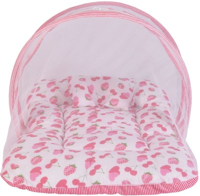 BANTOO Cotton Infants Baby Mosquito Net Bed With Cushioned Pillow Mosquito Net(Pink)