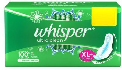 Whisper Ultra clean XL plus 30 Sanitary Pad(Pack of 30)
