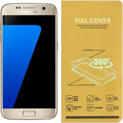CRodible Front and Back Screen Guard for Samsung Galaxy S6 Edge (Black, 64 GB) (3 GB RAM)(Pack of 1)