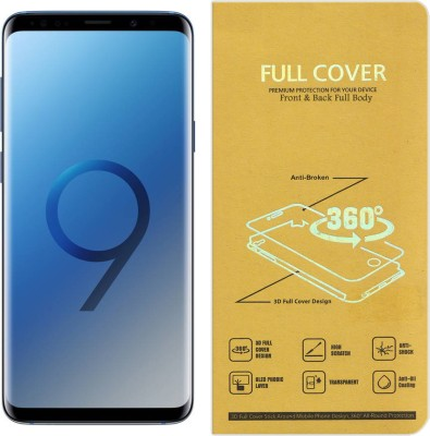 CRodible Front and Back Screen Guard for Samsung Galaxy S9 (Coral Blue, 128 GB) (4 GB RAM)(Pack of 1)