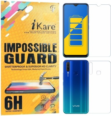 iKare Front and Back Screen Guard for Vivo Y15(Pack of 2)