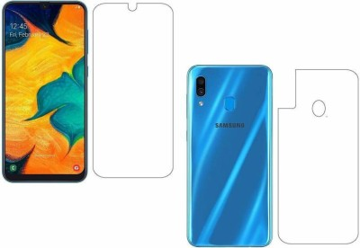 PR SMART Front and Back Screen Guard for Samsung A30(Pack of 2)