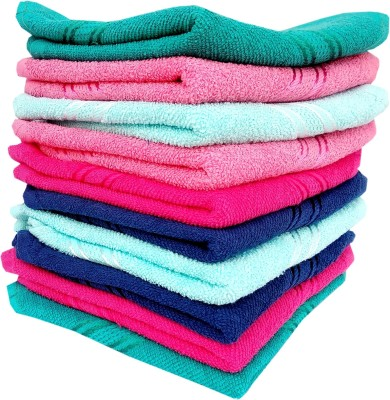 Space Fly Cotton 300 GSM Face Towel(Pack of 10)