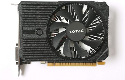 ZOTAC NVIDIA GeForce GTX 1050 Ti OC Edition 4 GB GDDR5 Graphics Card(Black, Grey)