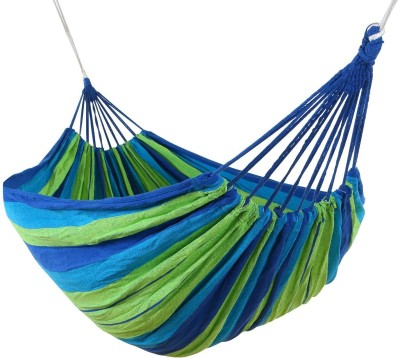 MANTAVYA Outdoor Hang Bed with backpack Polyester Small Swing(Blue, DIY(Do-It-Yourself))