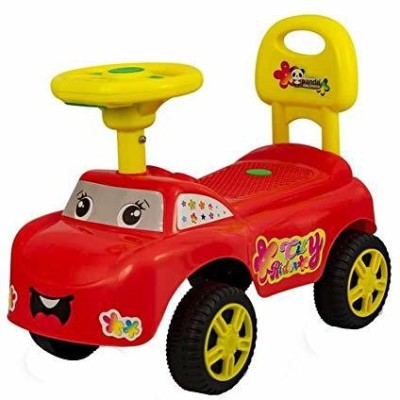 HK World City Rider Ride on Car | With Music | Baby Ride On Car | (RED)(Red)
