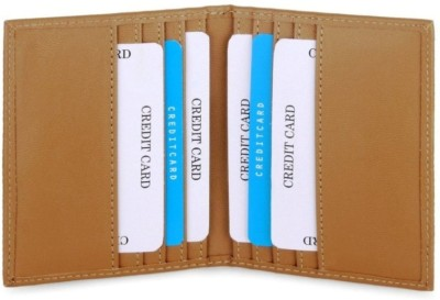 Southpole Fashions Real Leather 10 Card Holder(Set of 1, Tan)
