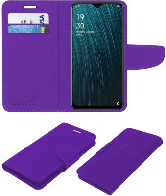 ACM Flip Cover for Oppo A5s(Purple, Cases with Holder)