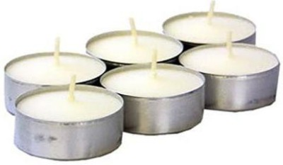 yubirth tea light candles 775566 Candle(Silver, Pack of 24)