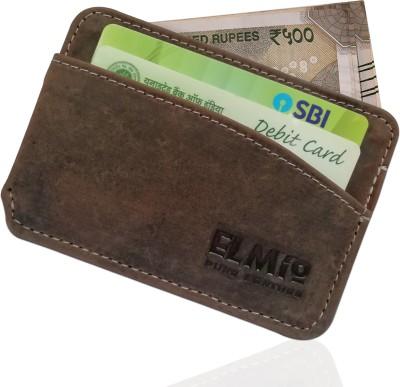 EL Mio RFID Blocking Genuine Leather Men Women Front Pocket Slim Fit Minimalist 4 Card Holder(Set of 1, Brown)