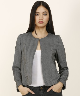 Van Heusen Full Sleeve Self Design Women Jacket at flipkart