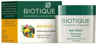 Biotique Bio Fruit Whitening Lip Balm, 12g Bio fruit(Pack of: 1, 12 g)