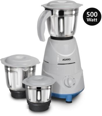Agaro Magnus Mixer Grinder 500 Mixer Grinder (3 Jars, Blue & White)