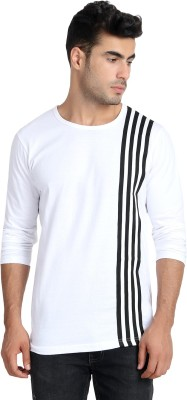 Unisopent Designs Solid Men Round Neck White, Black T Shirt