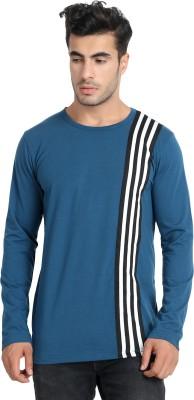 Unisopent Designs Solid Men Round Neck Blue T Shirt
