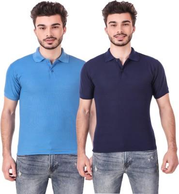 Wildcraft Solid Men Polo Neck Dark Blue T-Shirt