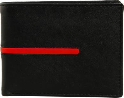 Leder Street Men Black Genuine Leather Wallet(10 Card Slots) at flipkart